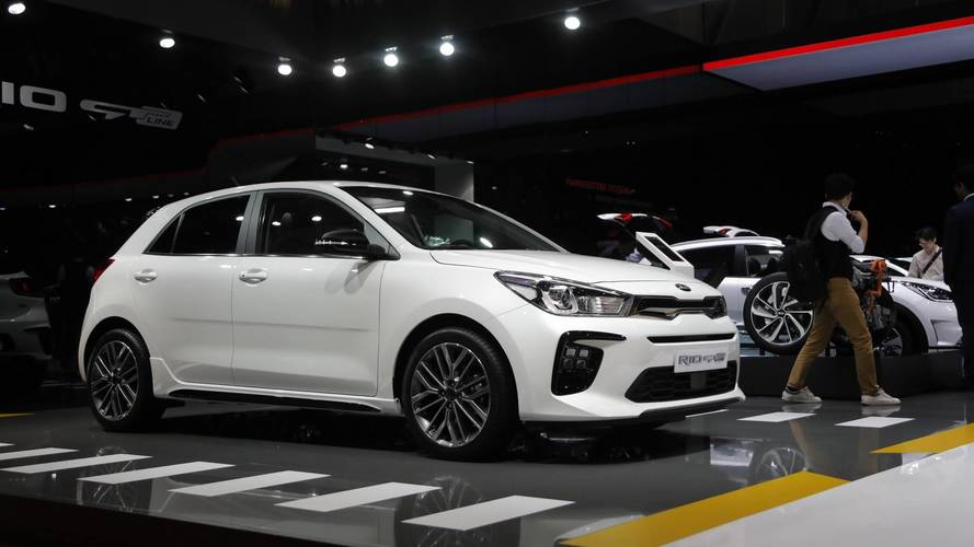 Kia rio gt line at the 2018 geneva motor show for Kia motor company usa