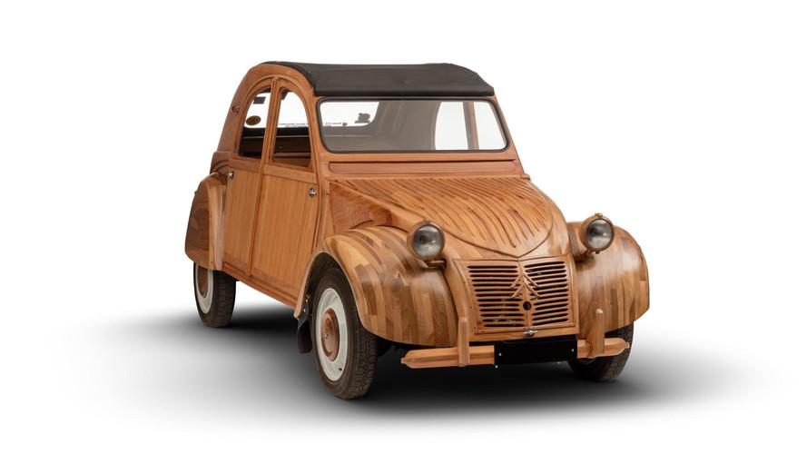 Un Citroën 2CV de madera: increíble... pero cierto