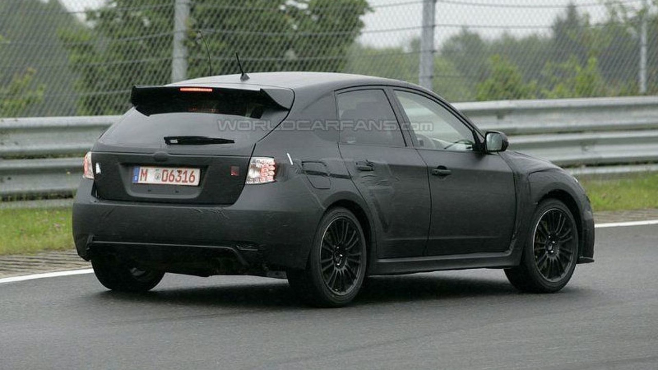 subaru impreza wrx sti hatchback spy photos. Black Bedroom Furniture Sets. Home Design Ideas