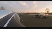 Bugatti Veyron and Rimac race