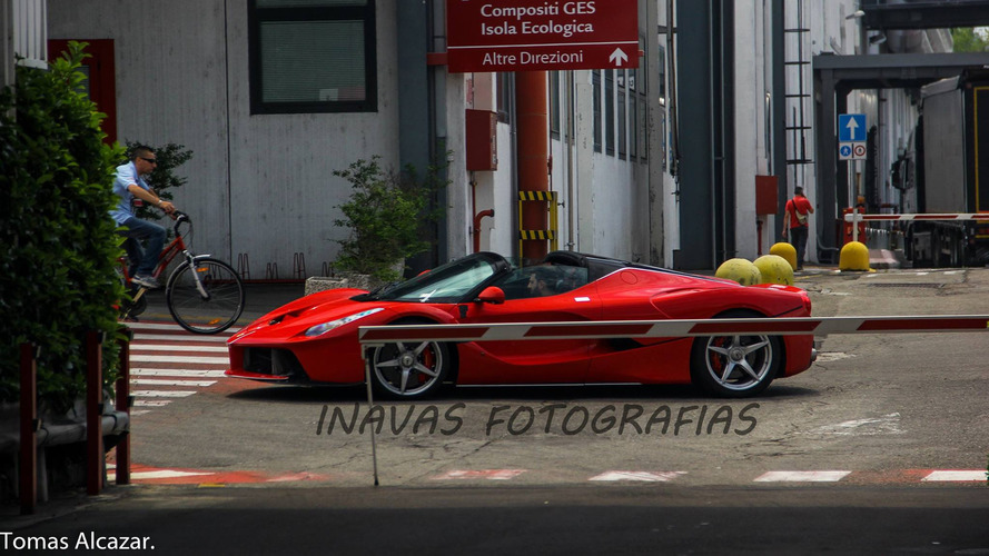 LaFerrari Aperta photographed without its top