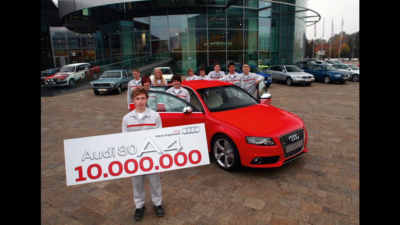 Marca histórica: Audi comemora 10 milhões de unidades produzidas do A4
