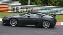 Lexus LF-A production version spy photo on Nurburgring