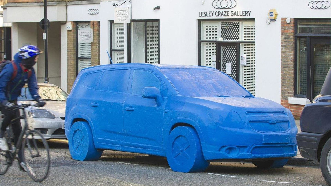 chevrolet orlando play doh sculpture appears in london. Black Bedroom Furniture Sets. Home Design Ideas