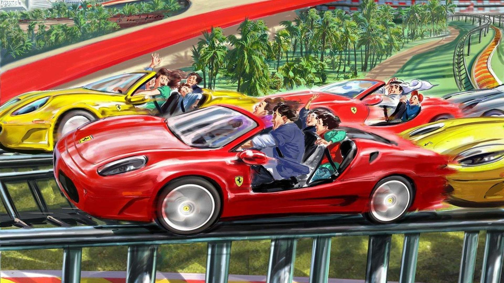 ferrari world abu dhabi reveals attractions and rides. Black Bedroom Furniture Sets. Home Design Ideas