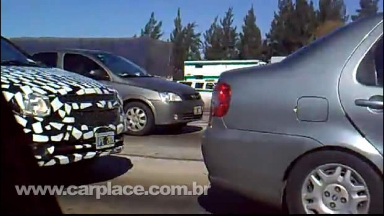 Agora em Vídeo! Duas unidades camufladas do Chevrolet Agile são flagradas na Argentina